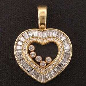 Chopard 18K Gold Happy Diamond Heart Pendant